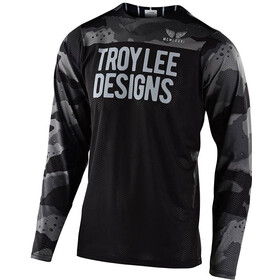 Troy Lee Designs Skyline Air Maillot manches longues, pinstripe camo grey/black